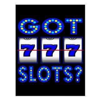 GOT SLOTS ? POSTCARD