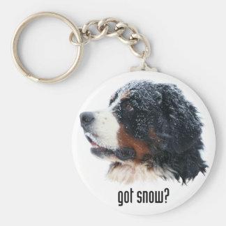 got snow? Bernese Mountain Dog Basic Round Button Keychain