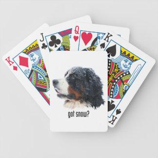 got snow? Bernese Mountain Dog Bicycle Playing Cards