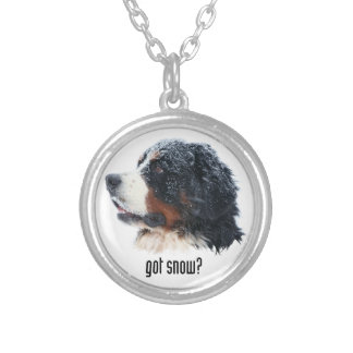 got snow? Bernese Mountain Dog Silver Plated Necklace