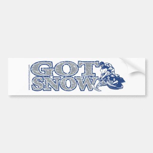 Got-Snow-Bumper-Bluegrey Car Bumper Sticker