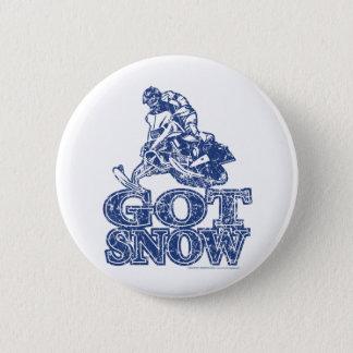 Got-Snow-Distressed-Blue Pinback Button