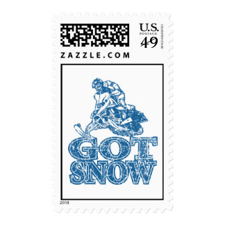 Got-Snow-Distressed-Blue Postage Stamp