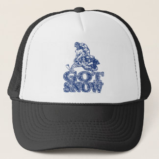 Got-Snow-Distressed-Blue Trucker Hat