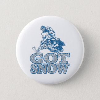 Got-Snow-Distressed-GreyBlu Pinback Button