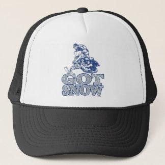 Got-Snow-Distressed-GreyBlu Trucker Hat