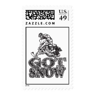 Got-Snow-Distressed Postage Stamp