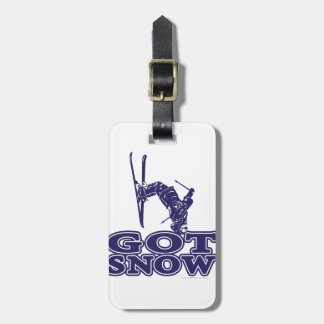 Got Snow Snow Skier Luggage Tag