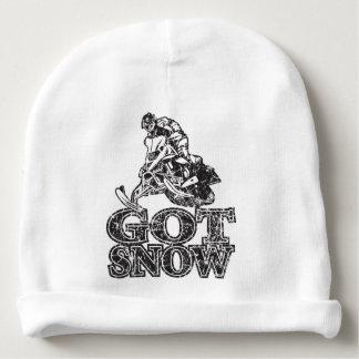 Got Snow Snowmobiler Baby Beanie