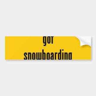got snowboarding? bumper sticker
