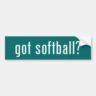 got softball? bumper sticker