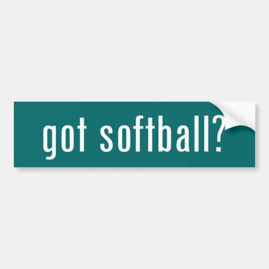 got softball? bumper sticker