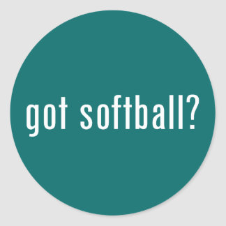 got softball? classic round sticker