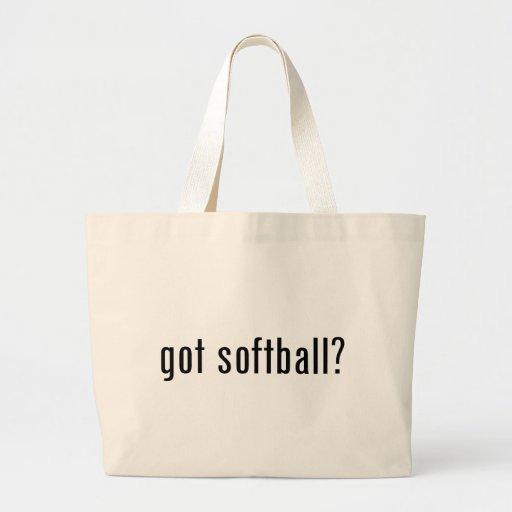 got softball? jumbo tote bag