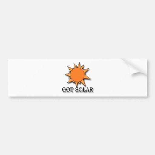 Got Solar black Bumper Sticker