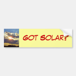 Got Solar Bumper Sticker Car Bumper Sticker