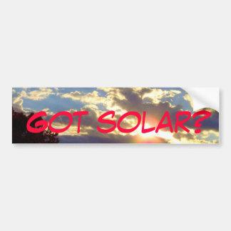 Got Solar Bumper Sticker - custom text Car Bumper Sticker