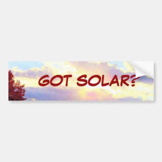 GOT SOLAR? bumpersticker Car Bumper Sticker