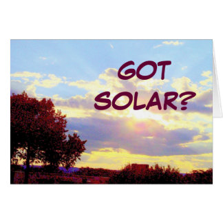 GOT SOLAR card