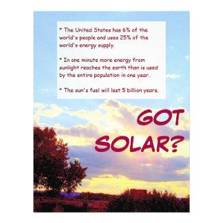 GOT SOLAR? flyer