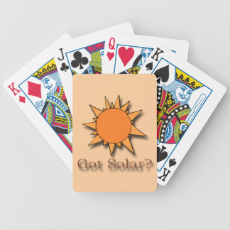 Got Solar orange Bicycle Playing Cards