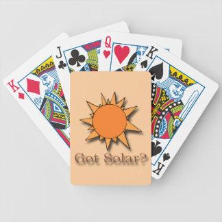 Got Solar orange Bicycle Playing Cards