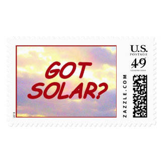 GOT SOLAR? postage
