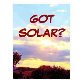 GOT SOLAR? postcard