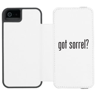 got sorrel iPhone SE/5/5s wallet case