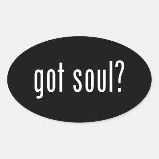 got soul? oval sticker
