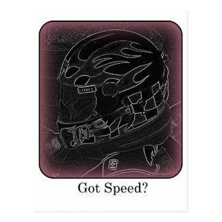 Got Speed? Inverted Color Postcard