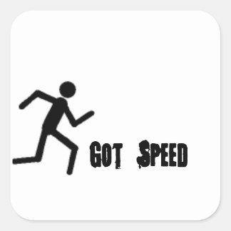 Got Speed Sitckers Square Sticker