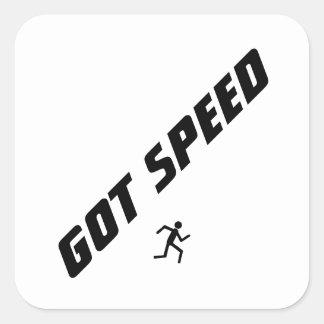 Got Speed Square Sticker