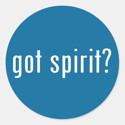 got spirit? classic round sticker