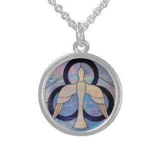 Got spirit? round pendant necklace