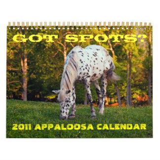 GOT SPOTS? 2011 APPALOOSA CALENDAR