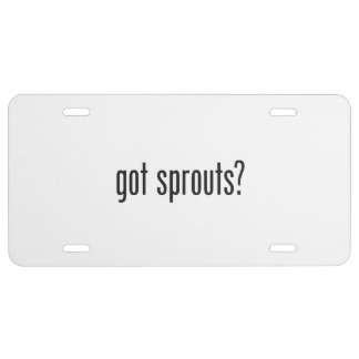 got sprouts license plate