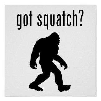 got squatch? poster