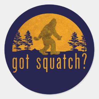 Got Squatch? Vintage Round Stickers