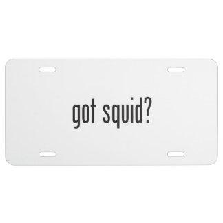 got squid license plate