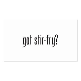 got stir fry Double-Sided standard business cards (Pack of 100)