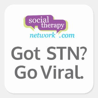 Got STN? Go Viral! Square Sticker