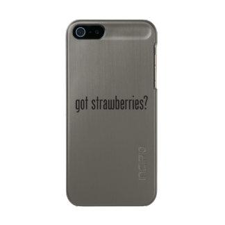 got strawberries metallic phone case for iPhone SE/5/5s