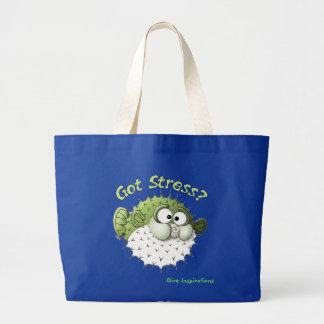 Got Stress? Puffer Fish Jumbo Tote Bag