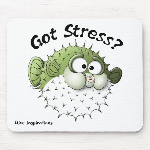 Got Stress? Puffer Fish Mouse Pad