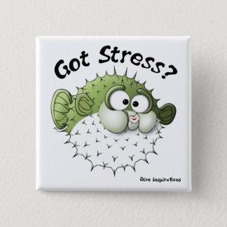 Got Stress? Puffer Fish Pinback Button