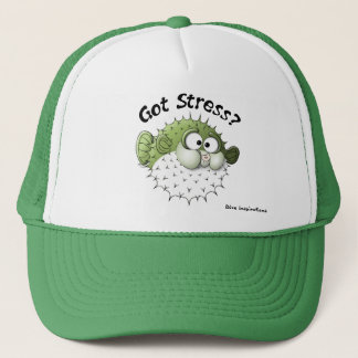 Got Stress? Puffer Fish Trucker Hat