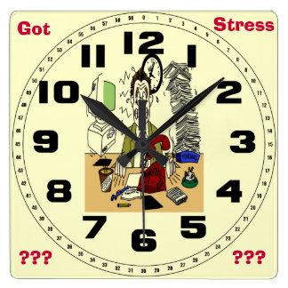 Got Stress ? Square Wall Clock