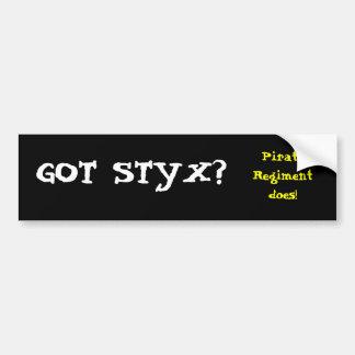 GOT STYX?, Pirate Regiment does! Bumper Sticker