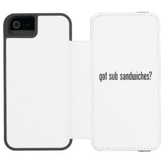 got sub sandwiches iPhone SE/5/5s wallet case